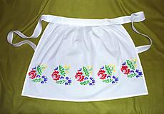 Iné oblečenie - ľudová zásterka - 5809551_