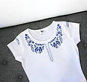 Tričká - Modrý motív - triko - 5809931_