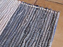 Úžitkový textil - KOBEREC tkaný rifľový 80 x 250cm - 5809877_