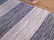 Úžitkový textil - KOBEREC tkaný rifľový 80 x 250cm - 5809879_