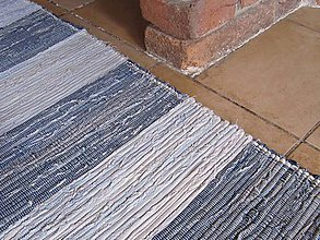 Úžitkový textil - KOBEREC tkaný rifľový 80 x 250cm - 5809885_