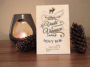 Papiernictvo - Vianočný a novoročný pozdrav - vzor B1 - 5810040_