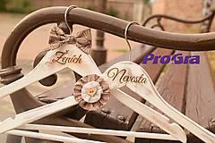 Svadobné retro vešiaky