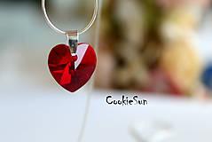 - Prívesok Swarovski Heart Siam AB  - 5809140_