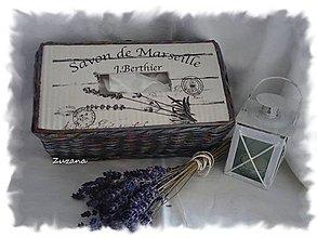 Krabičky - Vreckovník - sivý + patina - 5810729_