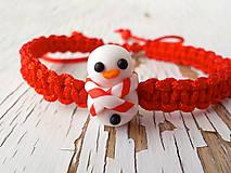 Náramky - vianočný náramok so snehuliačikom - 5811268_