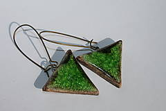 Náušnice - zelená hlbočina - 5812453_