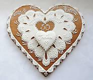 Dekorácie - Darujeme Ti srdce... Medovník - 23 cm - 5813409_