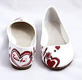 Obuv - bordovo - jantárové svadobné baleríny - 5812962_