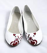 Obuv - bordovo - jantárové svadobné baleríny - 5812966_
