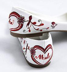 Obuv - bordovo - jantárové svadobné baleríny - 5812963_