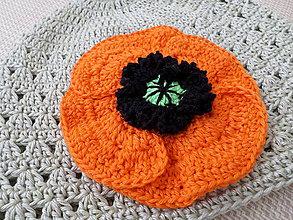 Čiapky - oranžový mak - 5815240_