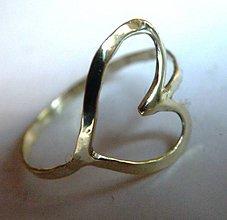 Prstene - Zlatý prstienok 14k (Au 585/1000) SRDIEČKO ♥ - 5814572_