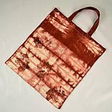 Nákupné tašky - Plátěná taška vínová s listy - 5812311_