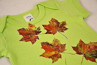 Detské oblečenie - Barevné dětské body s listy - 5812331_