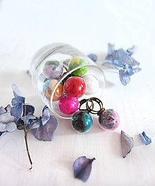 Prstene - Páperie v skle / prstene (10 farieb) - 5816896_