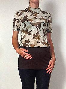 Tehotenské/Na dojčenie - tehotenské tričko - maskovaná - nie len pre tehuľku - 5818149_