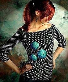 Tričká - Dotty Black - 5815997_