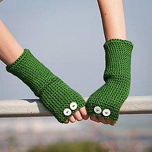 Rukavice - Zelené rukavice bez prstov - 5819922_