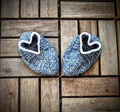 Topánočky - Papučky hrejivky pre vaše malé srdiečka - 5821666_