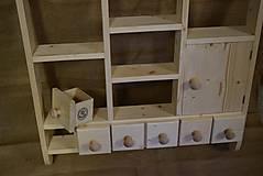 Nábytok - Drevená polica kuchynská s dvierkami (č.1) - 5819606_