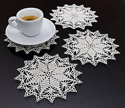 Úžitkový textil - Podšálky 4 - na sviatočný stôl 1 - 5819662_