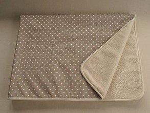 Úžitkový textil - Ovčie runo Deka vlnená De Luxe STAR bežová - 5821796_