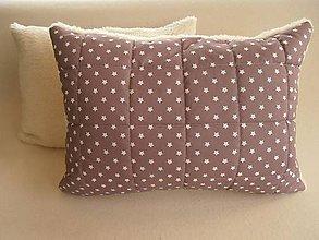 Úžitkový textil - Vankúš 50 x 70 cm ovčie runo De Luxe STAR - 5821846_