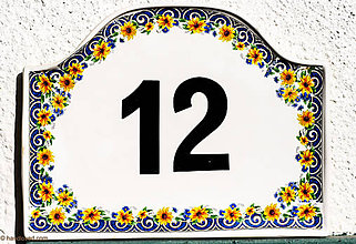 Tabuľky - Čísla na dom - tabuľka 1ks A - 5820264_