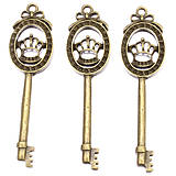 Komponenty - Kovový kľúč s korunkou, ihneď - 5821412_