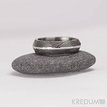 Prstene - Svadobná obrúčka, nerezová ocel damasteel - Steel Line - 5823856_