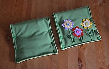 Textil - obojstranný softshellový delený rukávnik na kočík STROM a KVIETKY 5v1- čierna+zelená - 5823635_