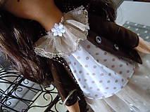 Bábiky - Hnedá s malým klobúčikom a medvedíkom - 5822708_