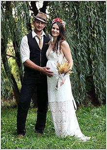 Šaty - vílovské svadobné šatky /v maslovo bielej - 5823465_