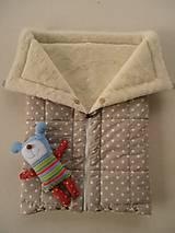 Textil - Deka 2 v 1 so zipsom a gombíkmi 75 x 105 - 5825311_