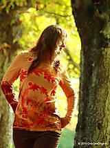 Tričká - Dámske tričko batikované a maľované LET LÍSTKA - 5822747_