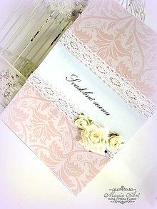 """Papiernictvo - Svadobné Menu """"Jemná vôňa nehy..."""" - 5822544_"""