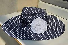 Čiapky - Dámsky klobúk Blue heart ♥ - 5822233_