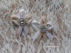 Pierka - Štras, biela a kapučíno - 5822983_