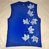 Oblečenie - Pánské modré tílko s bílými listy L - 5822349_