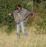 Iné oblečenie - Indiánske pončo pre Tú, ktorá počúva stromy - 5825770_