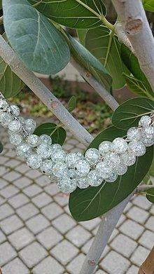 Náhrdelníky - Zo šperkovnice ľadovej kráľovnej - náhrdelník - 5826993_