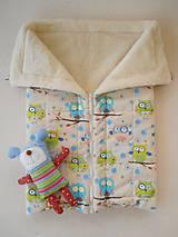 Textil - Merino Deka 75 x 105 cm sovičky - 5830384_