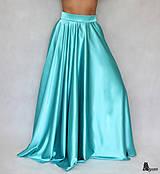 Kruhová saténová sukňa rôzne farby