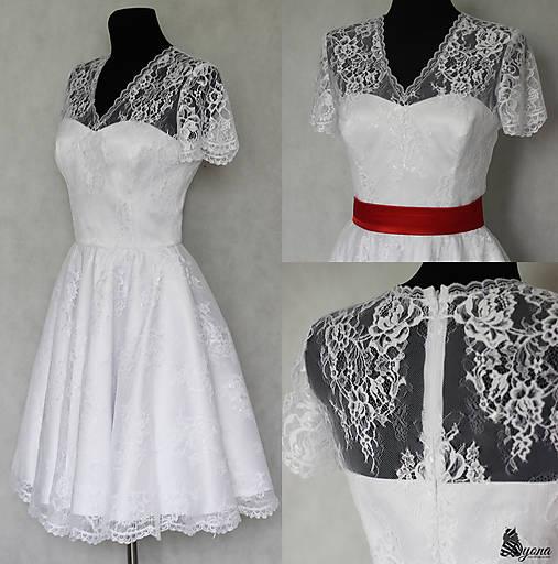 Svadobné šaty s kruhovou sukňou vo vintage štýle   Dyona - SAShE.sk ... dfc80e83cff