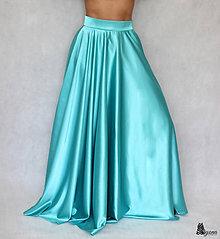 Sukne - Kruhová saténová sukňa rôzne farby - 5826455_