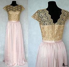 Šaty - Spoločenské šaty z hrubej krajky a hodvábneho šifónu rôzne farby - 5826572_