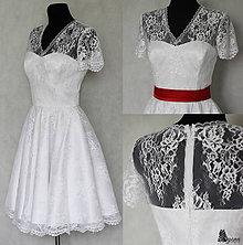 Šaty - Svadobné šaty s kruhovou sukňou vo vintage štýle - 5828156_