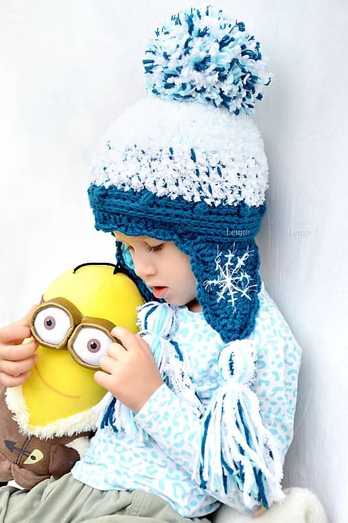 34b3038c5 Zimná ušianka ❄ Frozen ❄ / lemge - SAShE.sk - Handmade Detské čiapky