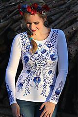 Tričká - Aničkina voľba II - ornamenty na rukávoch aj chrbáte... - 5829370_